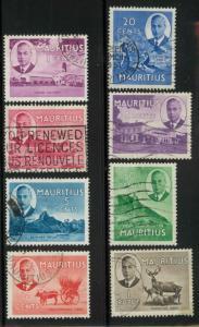 Mauritius 235-236, 239-240, 242, 244-246 Used VF (246 wri...