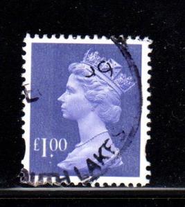 Great Britain - #MH279 Machin Queen Elizabeth II  - Used