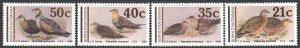 Bophutatswana. 1990. 239-42. Birds fauna. MNH.