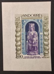 FRENCH ANDORRA, #221, 1973, IMPERF, single. (BJS)