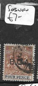 BRITISH CENTRAL AFRICA (PP1009B) BCA SURCH 4D  SG3  VFU