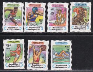 Malagasy # 1264-1270, Various Sports, MNH, Half Cat