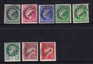 France 1945-47, perfect MNH Group of 7 stamps Precancel