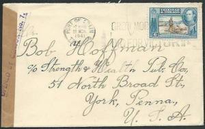 TRINIDAD 1941 cover to USA CENSOR NO.7.....................................62069