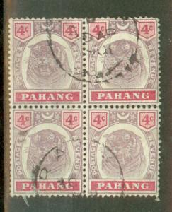 Malaya Penang used block of 4 CV $78