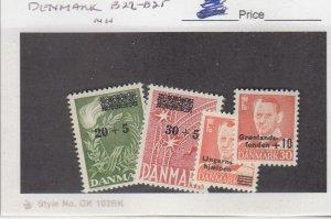J25878 jlstamps 1955-59 denmark mnh #b22-3,b24,b25 ovpt,s, all checked