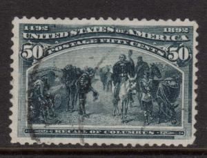USA #240 Used With Light Cancel