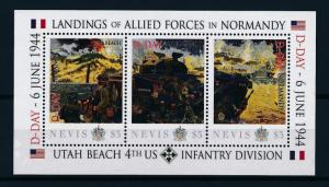 [81039] Nevis 2011 Second World war D-day Landing Normandy Sheet MNH