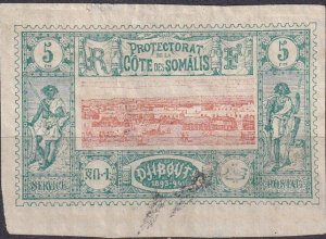 Somali Coast #9 F-VF  Used CV $7.00  (Z9719)