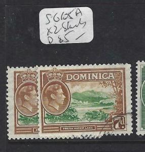 DOMINICA (PP1903B)  KGVI  7D  SG 105A X 2 SHADES   VFU