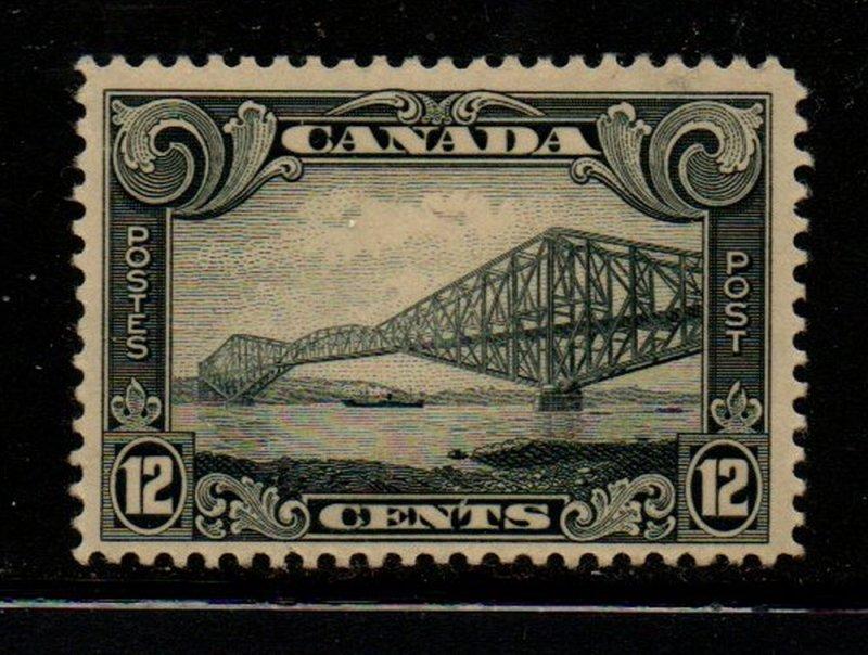 Canada Sc 156 1929 12 c gray Quebec Bridge stamp mint