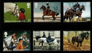GB SG3564/9 2014 WORKING HORSES MNH