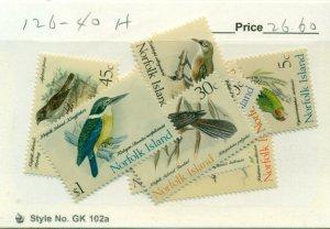 NORFOLK ISLAND #126-40, Mint Hinged, Scott $26.60