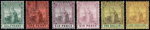 Trinidad Scott 92-93, 96-99 (1904-09) Mint/Used H VF, CV $75.75