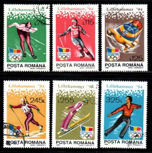 Romania # 3887-92 ~ Cplt Set of 6 ~ CTO, HMR ~ cv 1.35