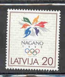 Latvia Sc 461 1998 Nagano Olympics stamp mint NH