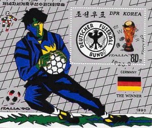 NORTH KOREA 1990 - SCOTT# 2928 S/S World Cup Soccer USED