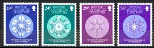 British Antarctic Territory Sc# 133-136 MNH 1986 Glaciological Society 50th