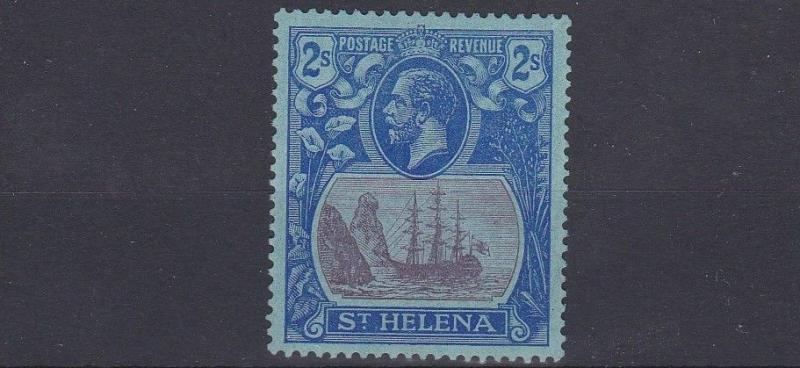 ST HELENA  1922   S G   108  2/-  PURPLE & BLUE       MH
