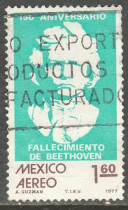 MEXICO C541 Sesquicentennial of death of Beethoven Used. F-VF.  (901)