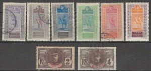 COLLECTION LOT # 3817 UPPER SENEGAL & NIGER 8 STAMPS 1906+ CV+$11