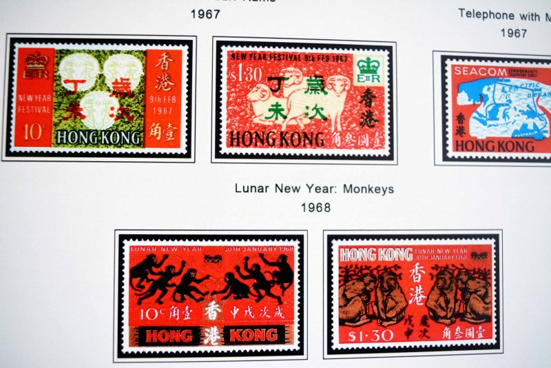COLOR PRINTED HONG KONG [BRITISH] 1862-1997 STAMP ALBUM PAGES (117 illus. pages)