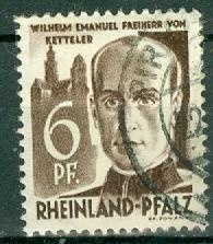 Germany - French Occupation - Rhine Palatinate - Scott 6N17