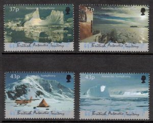 BRITISH ANTARCTIC Antarctic Symphony; Scott 293-96, SG 315-18; MNH