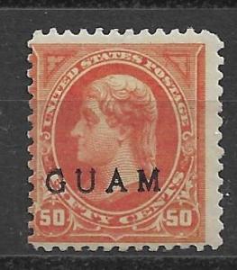 Guam 11 50c Jefferson Overprinted Single Unused LH (LL2018B)