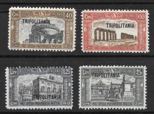 Tripolitania Scott B19-B22 Mint set O/P semi-postal stamps 2015 CV $17.25