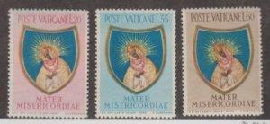 Vatican City Scott #189-190-191 Stamps - Mint NH Set