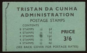 Tristan da Cunha  Sc #28a, 29a, 30a, 33a, 34a  BOOKLET  MNH.  2017 SCV $21.85