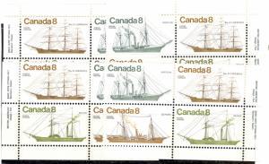 Canada #670-73 M/S  Plate Blocks VF NH   - Lakeshore Philatelics
