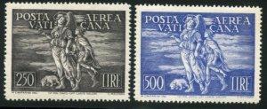 VATICAN Sc#C16-C17 1948 Archangel Raphael Complete VF Mint OG NH