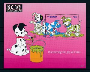 [22408] Gambia 1997 Disney Dogs 101 Dalmatians Enjoy Paint MNH