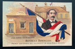 Mint Dominican Republic Stationery Postcard 1913 Juan Pablo Duarte Centenary