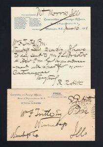 CONGRESSIONAL FREE FRANK: Robert R. HITT 1901 Asst. Sec. State
