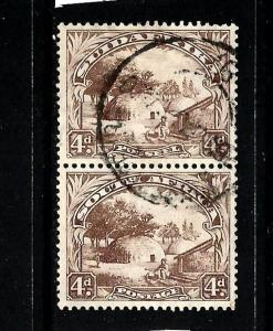 SOUTH AFRICA 1930-45  4d  PICTORIAL PAIR  FU  SG 46
