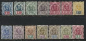 Sarawak 1899-1908 complete set with 2 shades mint o.g.