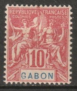 Gabon 1904 Sc 20 Yt 20 MH*