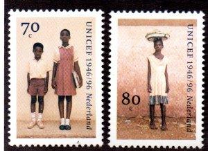 NETHERLANDS 939-40 MNH SCV $1.60 BIN $.95 UNICEF