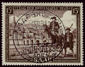 French SAAR Attractive SC#227 Used VF hr....Grab a Bargain!