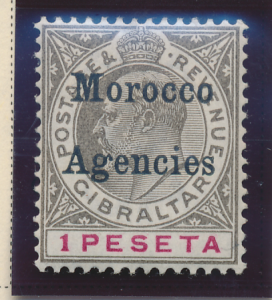 Great Britain, Offices In Morocco Stamp Scott #25, Mint Hinged - Free U.S. Sh...