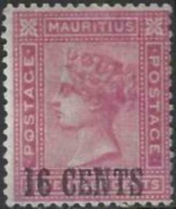 Mauritius 1883 SC 76 MLH Set