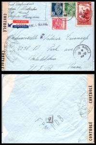 Goldpath: Algeria cover, 1943, To Philadelphia PA USA, CV23_P13