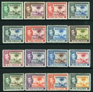GAMBIA-1938-49  A mounted mint set to 10/- Sg 150-161