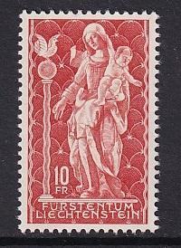 Liechtenstein  #395   MNH   1965   Madonna wood sculpture
