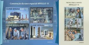 Z08 IMPERF GB190310ab Guinea Bissau 2019 Apollo 11 MNH ** Postfrisch