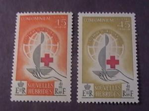 NEW HEBRIDES(FRENCH) # 110-111-MINT NEVER/HINGED------COMPLETE SET-------1963