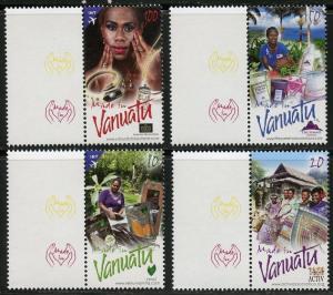 VANUATAU  2016 MADE IN VANUATU SET OF FOUR MINT  NH